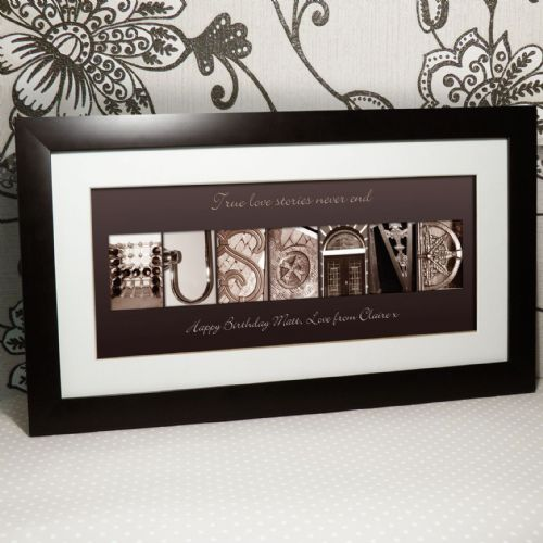 Personalised Affection Art Husband Large Frame